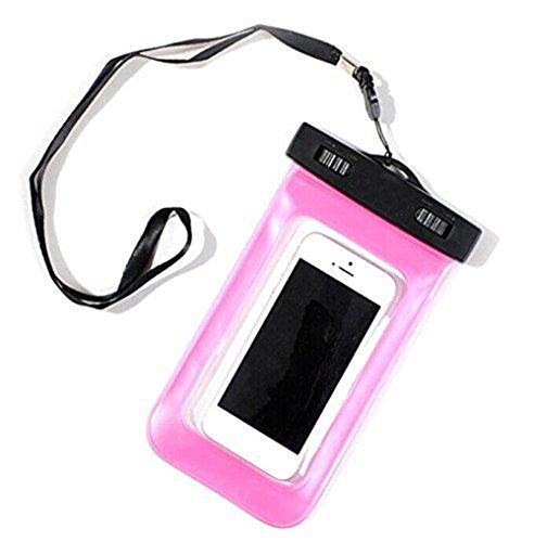 Kentop Wasserdichte Hülle Wasserdichte Hülle Beutel Tasche Handyhülle Staubdichte Schützhülle für 4,0 5.8-Zoll-Bildschirm Handy, für Samsung Note2, HTC, MP4 Spieler usw. (Rosa) 5.8 Handys