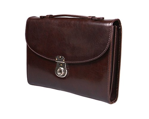 SAGEBROWN Brown Vintage Windsor Briefcase