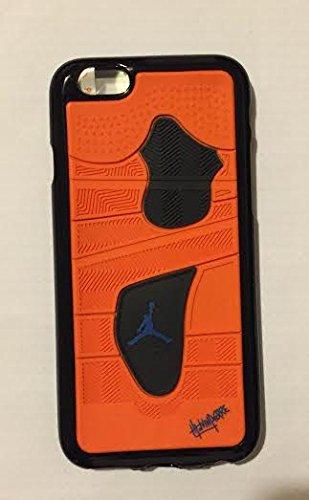 NEW Air Jordan Coque souple pour Apple iPhone 5/5C/5S/6& 6S Chaussures en caoutchouc Semelle gaufrée 3D cas, Caoutchouc, ORANGE & BLACK, APPLE IPHONE 6.s