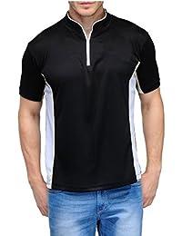 Scott Men's Jersey Collar Neck Sports Dryfit T-shirt - Black