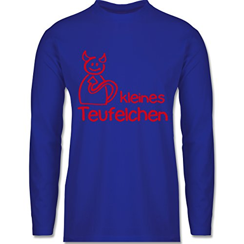 Shirtracer Sprüche - Kleines Teufelchen - Herren Langarmshirt Royalblau