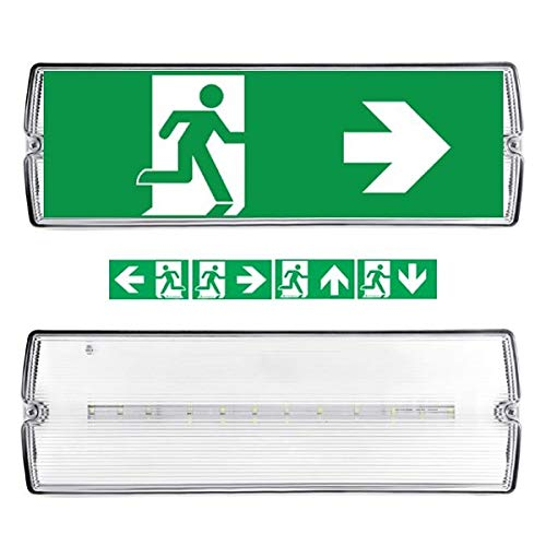 Notbeleuchtung LED, Fluchtwegleuchte, Notlicht, Rettungszeichenleuchte, IP65, Notleuchte, Notausgang Leuchte 3W -