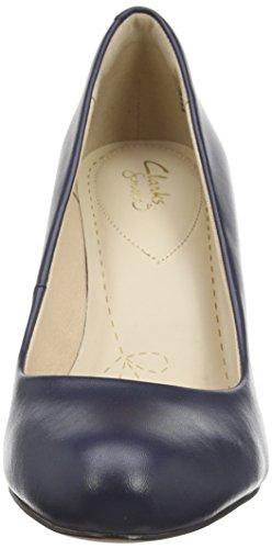 Clarks Carlita Cove, Scarpe con Tacco Donna Blu (Navy Leather)