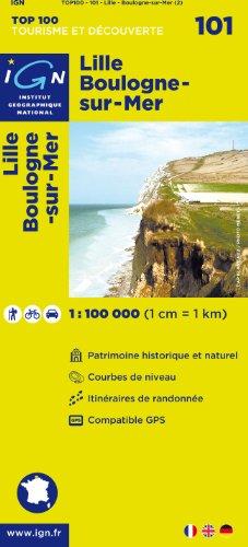 Top100101 Lille/Boulogne-Sur-Mer 1/100.000