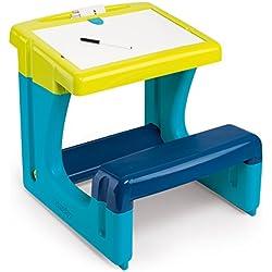 Smoby - 420101 - BurEau Petit Ecolier - Ardoise Double Face - Magnétique / Craie - + 2 Feutres et 6 Craies Inclus - Bleu