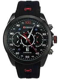 Hombre Reloj - CURREN Reloj De Hombre Resistente al agua Army Military Acero Auto Dial Fecha Negro