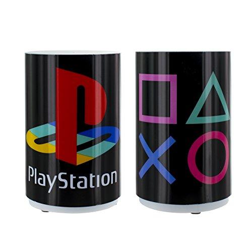 Zylindrische Mini-lampe (Playstation Mini-Licht mit Sound, mehrfarbig)