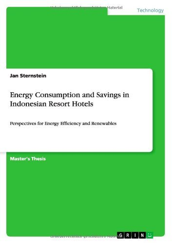 Energy Consumption and Savings in Indonesian Resort Hotels by Jan Sternstein (2011-10-25)