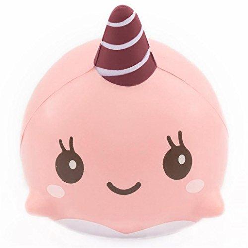 DOLDOA Stress Relief Spielzeug, 9CM weiche Whale Karikatur Squishy langsam steigende Squeeze Spielzeug Telefon Straps Ballketten (Kostüm Baby Star Pop)