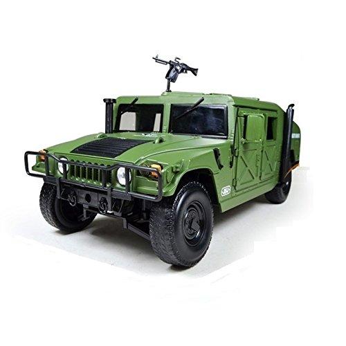 Preisvergleich Produktbild eMart Kind-Kind-Legierung Diecast Modell Spielzeug Hummer Battlefield Militärfahrzeug LKW-Auto-Simulation Maßstab 1:18 Geschenk - Grün