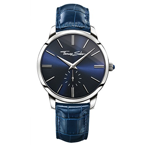 Thomas Sabo Herren-Armbanduhr Rebel Spirit Silber Blau Analog Quarz