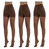 BONAS Tights Bodyshaper Pantyhose 3Pack Shock Up Silky Stockings Control Top