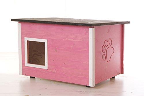 running rabbit gmbh Katzenhaus - Katzenhütte mit Heizung, wärmegedämmt, verschiedene Farben (violett)