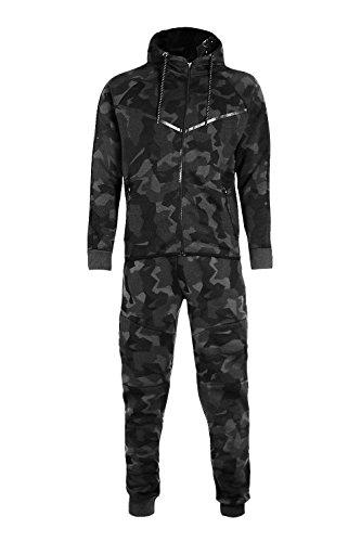 369b38a597259 Mymixtrendz® Men s Army Camouflage Design Camo Tracksuit Hoodie Zipper  Joggers 2 Piece Designer Suit
