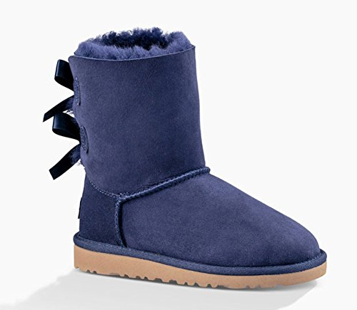 UGG 3280 BAILEY BOW PEACOT KIDS STIVALE SHEARLING DUE FIOCCHI BLU (Uggs Bailey Bow Kids)