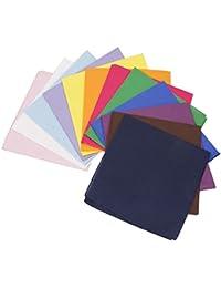 BMC 12pzas Multicolor Tela De Algodón Extra Grande 53.3cm Cuadrado Pañuelos