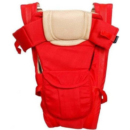 AND-Generic 1 Pc Adjustable Hands-Free 4-in-1 Baby Carrier with Comfortable Head Support & Buckle Straps - Color: Red (Strep color may vary)