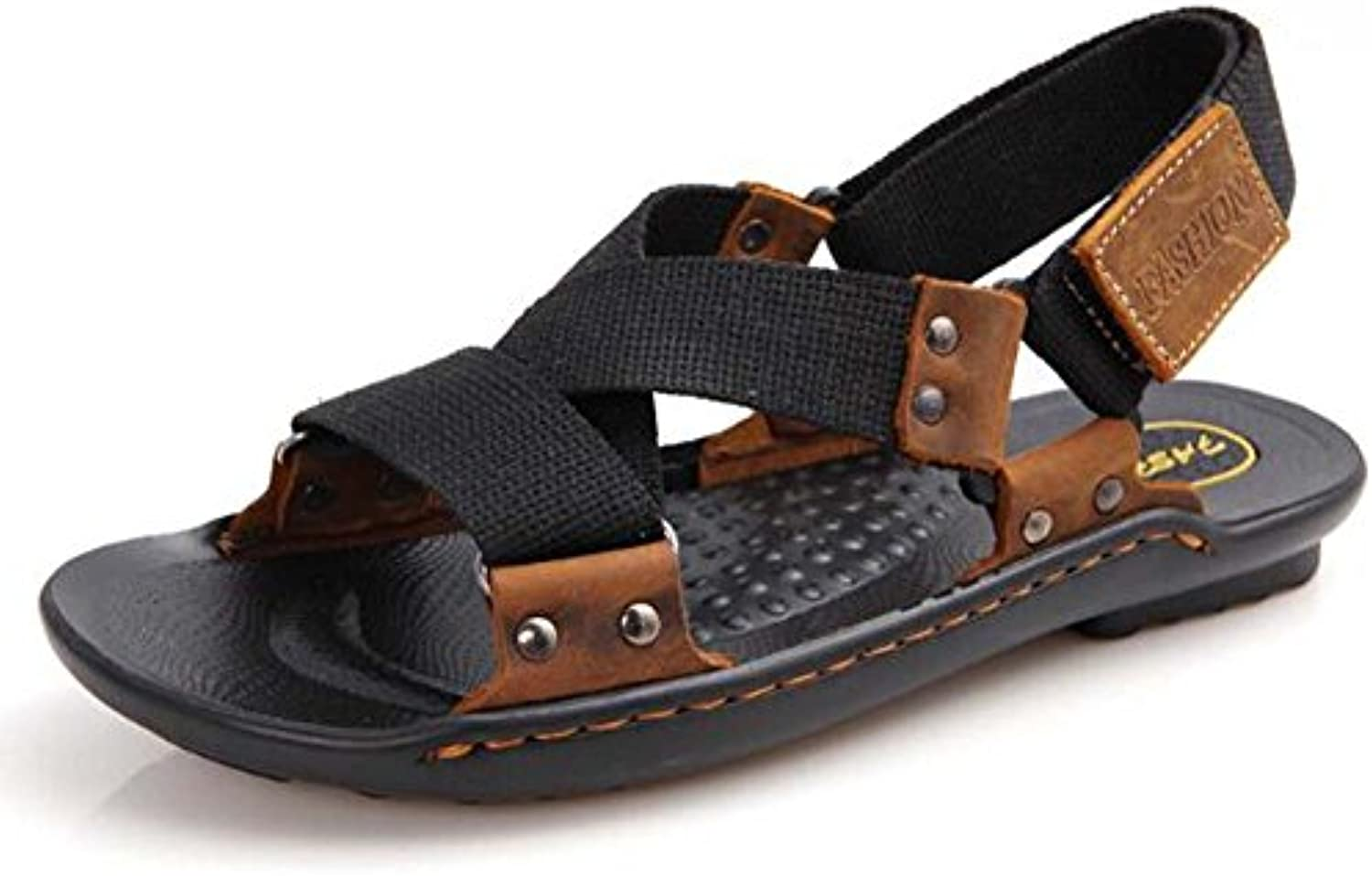 Herren Sandalen Nylon Canvas Sommer Sandalen für Casual Black Green Größe 38 44 Outdoor
