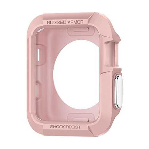 Spigen Apple Watch Hülle, Rugged Armor entworfen für Apple Watch 38mm Series 3/2/1/Original (2015) Case - Rose Gold - 38 Matt