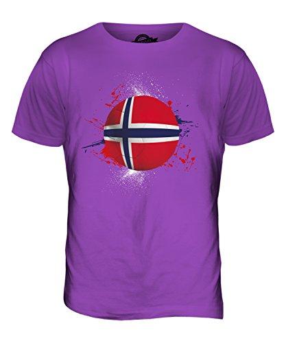 CandyMix Norwegen Fußball Herren T Shirt Violett