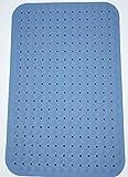 #3: LifeKrafts Bath Mat Large Size 90*58cm (Blue) Bath Shower Mat Anti Slip with Suction Cups