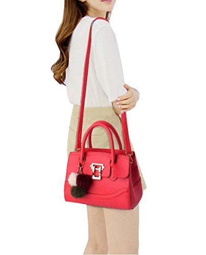 Neue Schultertasche Modisch Handtasche Vornehme Dame Stil Umhängetasche Shopper Tasche Bag Grün Rot