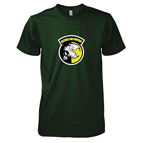 sans Frontieres - Herren T-Shirt, Größe XL, flaschengrün (Phantom Pain Snake Kostüme)