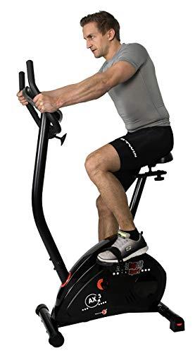Christopeit Unisex-Adult Heimtrainer Ergometer Fahrrad AX3, Schwarz, M