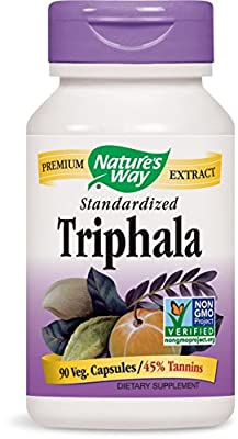 Natures Way Triphala Standardized, 90 Vegicaps from Nature's Way