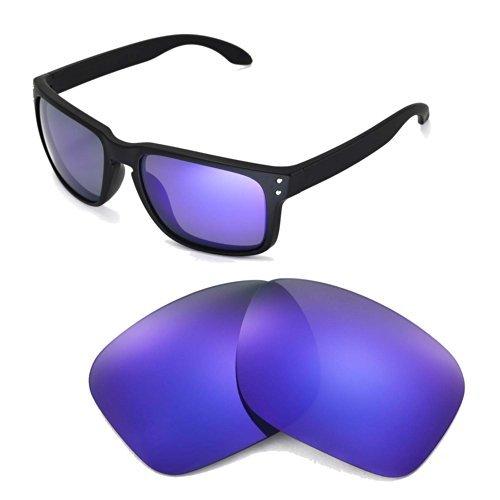 Walleva Ersatzgläser für Oakley Holbrook Sonnenbrille - Mehrfache Optionen (Lila beschichtet - polarisiert)