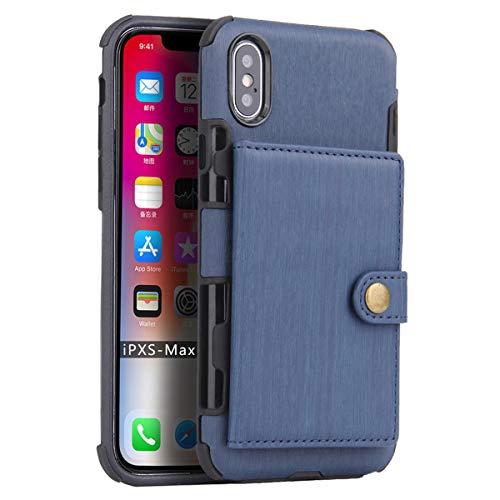 FLY HAWK iPhone 6/6s, iPhone 7/8, iPhone X/XR/XS Max, iPhone 6/7/8 Plus Hülle Handy Wallet mit Kartenfächer Lederhülle Wallet Case Schutzhülle Taschen [Premium PU] [Geldbörse]in vielen Farben