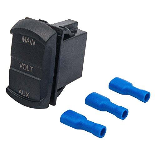 Digital Voltmeter-Maso LED Digital Display Dual Voltmeter Spannung Gauge Akku Monitor Panel Auto Boot Mini Electric Line Spannung Detektor Mtx-monitor