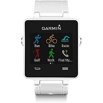 Garmin Vivoactive - Montre Connectée Multisports avec GPS Intégré - Blanc