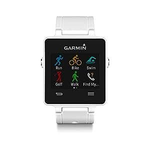 Garmin Vívoactive Smartwatch GPS con Monitoraggio Attività e Profili Sport, Standalone, Bianco