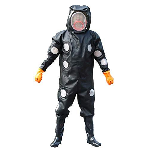 JXS-outdoor Imkerei Bee Suit, Bee Suit Professional und Einsteiger Imkerschutz 25 Belüftungsöffnungen Cool 2-Layer Fechtmaske,XL 824 Kit