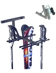 Estante Soporte para Accesorios de Ski 4x Pares Nordic Walking
