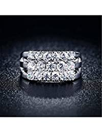 ELECTROPRIME Women's 18K Gold Plated Finger Ring Zircon Engagement Bridal Party Bague Jewelry