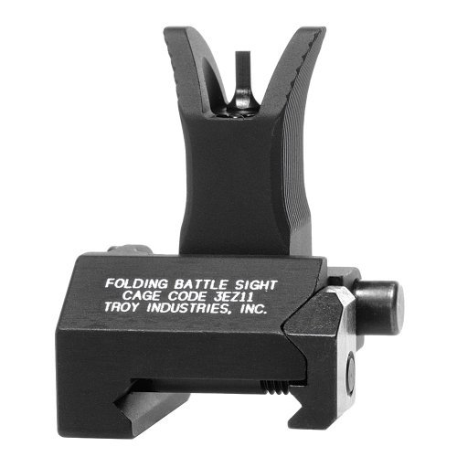 Troy Industries Front Folding Style Battle Sight (Black) by Troy Industries -
