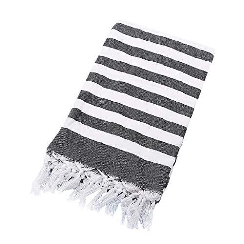 QIMANZI Hamamtuch aus Reiner Baumwolle - Ultraleicht und Schnelltrocknend - Ideal als Strandtuch, Reisetuch, Saunatuch, Badetuch(E2,100x180cm)