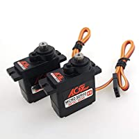 ‏‪2PCS AGFrc Micro Servo 9g Servo Motor Kit - Digital 11g Metal Gear Mini Servo for RC Helicopter Airplane Boat Controls, Control Angle 180°‬‏