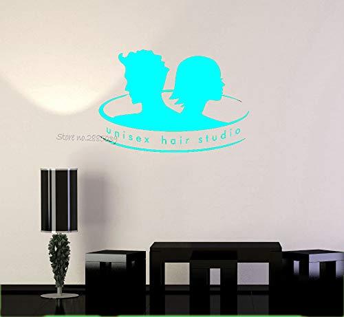 zqyjhkou Stil Vinyl Aufkleber Unisex Haar Studio Zitate Barbershop Stylist Salon Wandaufkleber Barbershop Kunst Wandtattoos Wandbild 6 82x56 cm