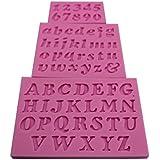 joyliveCY-Random Color 3pcs/set Mini carta y n¨²mero de silicona Fondant para decoraci¨®n de pasteles DIY del molde del molde [Clase de eficiencia energ¨¦tica A]