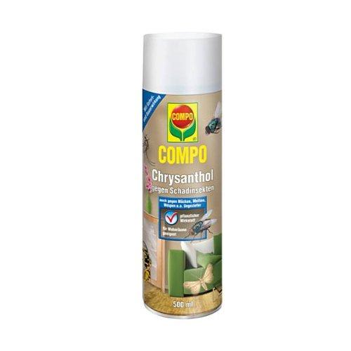 COMPO Chrysanthol Fliegen-Spray, Insektenspray gegen Fliegen, Mücken, Motten u.a. Ungeziefer, 500 ml