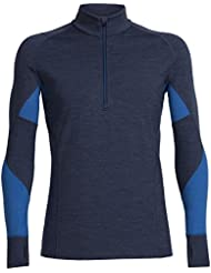 Icebreaker Winter Zone Sous-Vêtement Thermique Manches Longues 1/2 Zip Homme
