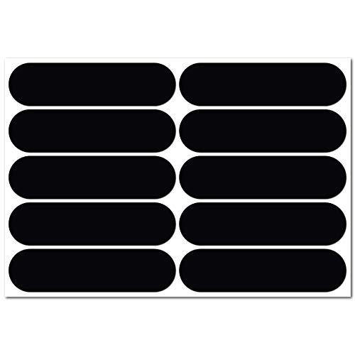 B REFLECTIVE, Kit 10 Adesivi rifrangenti/Riflettenti, Sicurezza e visibilità di Notte, Adesivo Universale per Bicicletta/Passeggino/Casco/Moto/Motorino/Giocattoli, 7 x 1,8 cm, Nero
