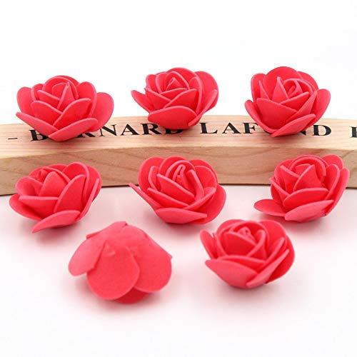 HUAYUH 50pcs / Lot der Bubble Head Rose Kranz Brosche Hochzeitskleid Dekoration Kranz Material gefälschte Blume künstliche Blume Knospe Blume Schaum Blume gefälschte Blume