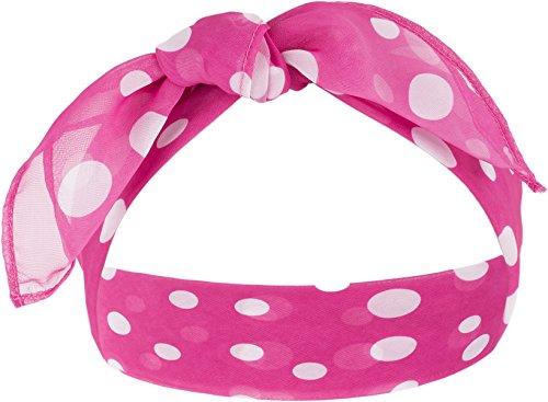 Preisvergleich Produktbild Killer Kirsche Damen Haarband Phebe Punkte Bandana Pink Ca. 52cm x 50cm