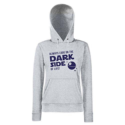 Damen Hoodie - Always look on the Dark Side of life - von SHIRT DEPARTMENT schwarz-weiss