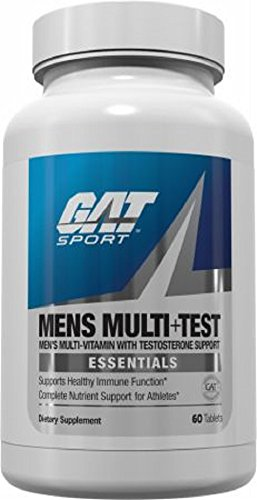 GAT Mens Multi + Test, Premium Multivitamin and Complete Testosterone Boosting Support with Tribulus Terristis, 60 Tablets/30 Servings by GAT