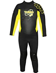 TWF - Neopreno para surf, color amarillo, talla UK: 10-11 años